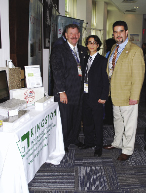 Shown From Left Are Lenny Caro President Of The Bronx Chamber Commerce Louis Gro Iii And Jr At New York Business Energy Expo