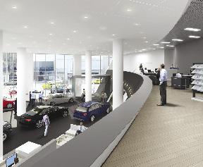 Rspline Creates D Renderings Of The Sf Volkswagen Audi Of - Audi of manhattan