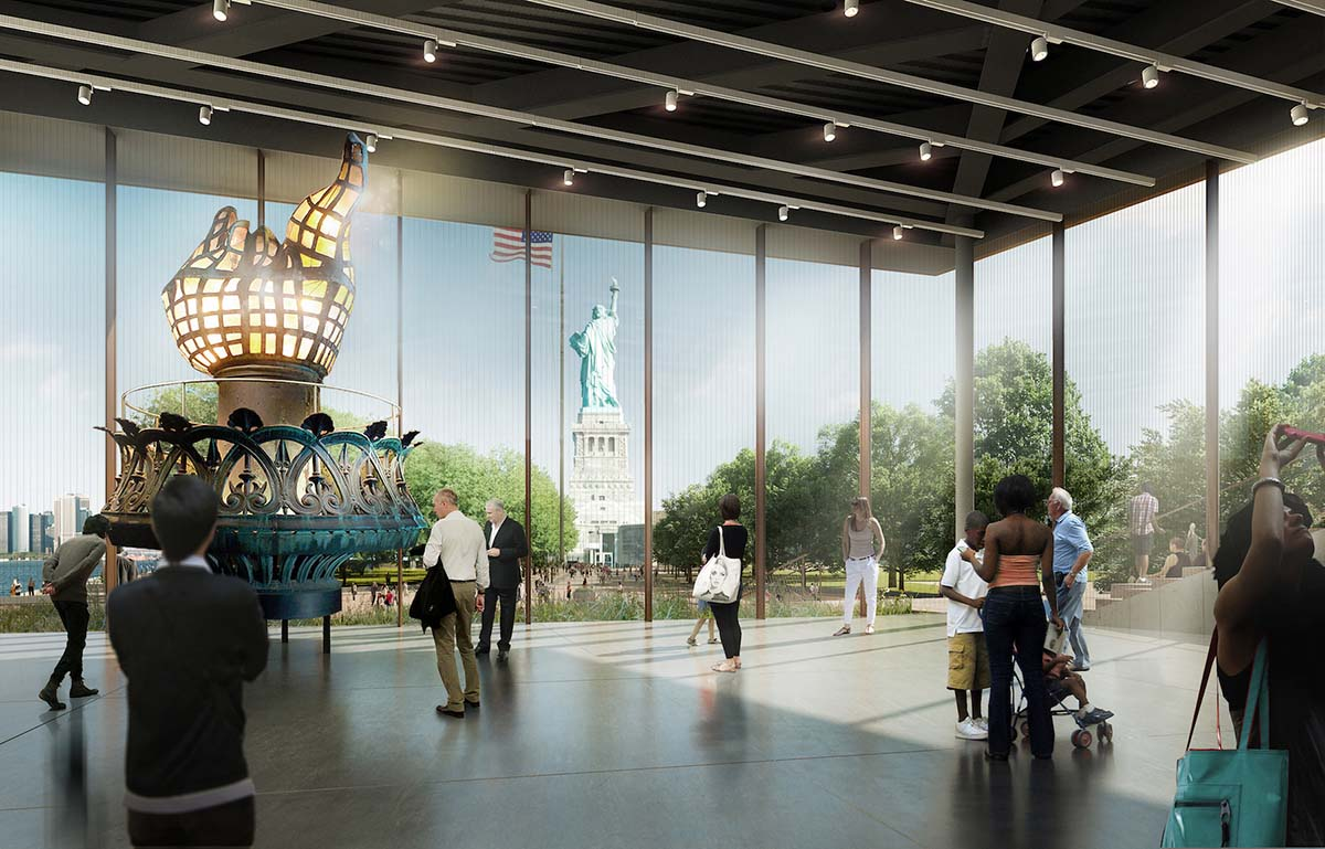 Project of the Month: FXCollaborative, ESI Design and DeSimone  top off 26,000 s/f Statue of Liberty Museum project