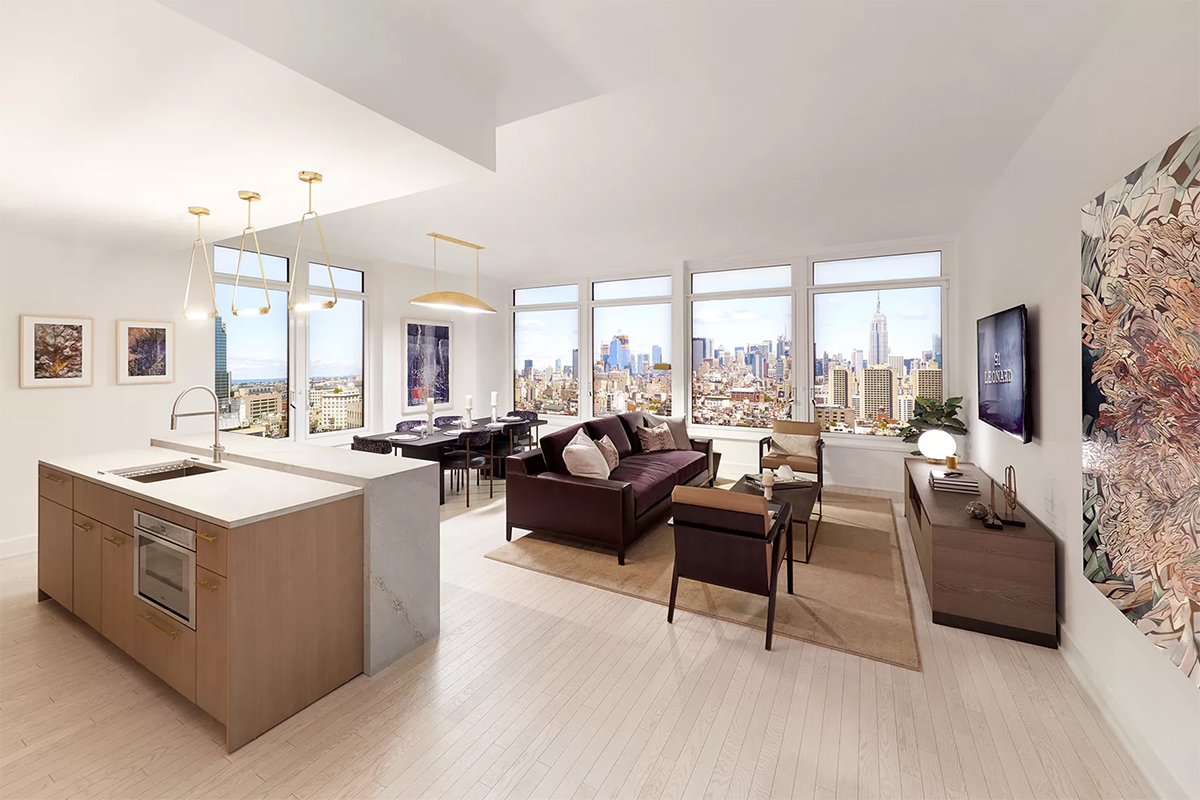 Toll Brothers launches sales gallery at 91 Leonard, designed by Whitehall; Architects: Skidmore, Owings & Merrill and Hill West