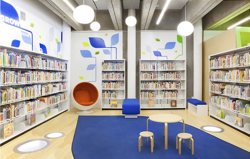 Port Washington Public Library, LHSA+DP, Stalco and SCC finish $2.8 million redevelopment of 5,500 s/f space