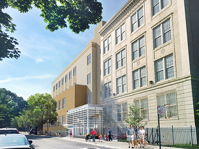 SCA, Urbahn Architects and MPCC Corp. top out $52.4 million addition for P.S. 144