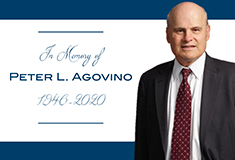 Agovino, esteemed construction attorney and former partner at FDT, passes at age 74