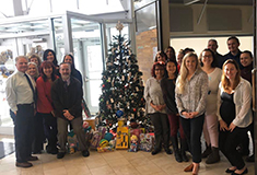 The Agency, Gtr. Binghamton Chamber of Commerce participate in Holiday Giving at FIVE South College Dr.