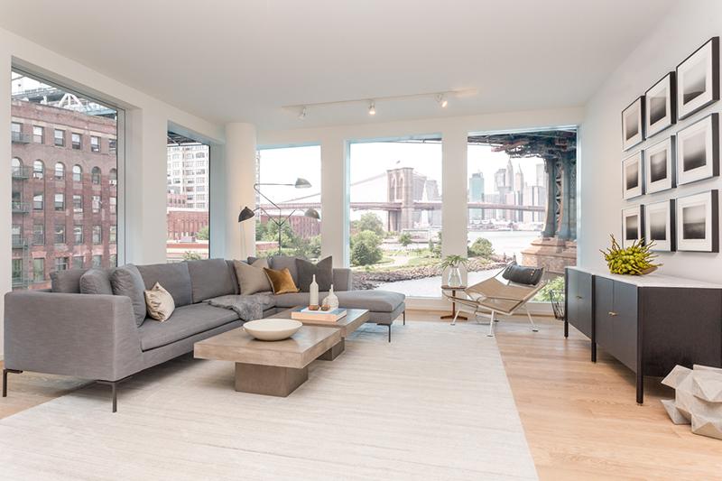 Living Room At 1 John Street   Brooklyn, NY