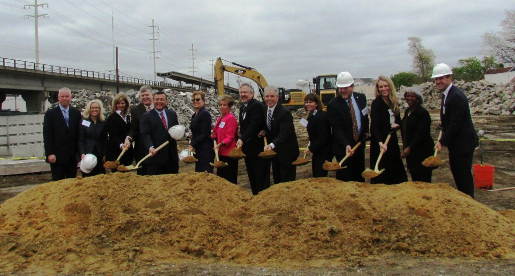 Ground breaking of Copiague Commons.