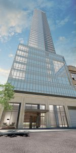 Exterior rendering, One Queens Plaza South - Long Island City, Queens, NY