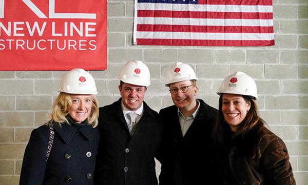 Shown (from left) are: Elizabeth Friedland Meyer, Rick Friedland, William Friedland and Amy Rose.